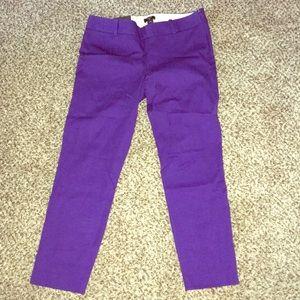 Jcrew purple Winnie cut crop pants